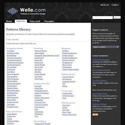 Interaction Design Pattern Library - Welie.com
