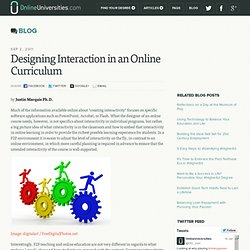 Designing Interaction in an Online Curriculum