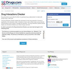 Drug Interactions Checker