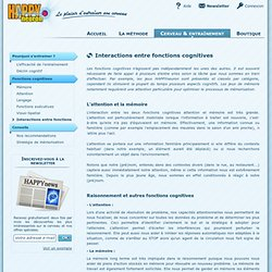 Interactions entre fonctions cognitives