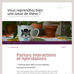 Parlons interactions et hybridations