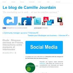 Etude : Réseaux sociaux en France, interactions entre marques et internautes