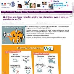 Pédagogie - Animer une classe virtuelle : générer des interactions avec et entre les participants, sur VIA