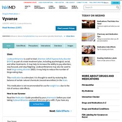 Vyvanse Oral : Uses, Side Effects, Interactions, Pictures, Warnings & Dosing - WebMD