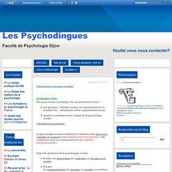 Interactions et normes sociales - Les psychodingues