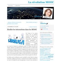 Etudier les interactions dans les MOOC