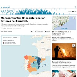 Mapa interactiu: On resisteix millor l'interès pel Carnaval?