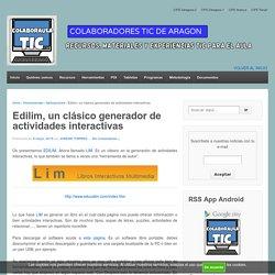 Edilim, un clásico generador de actividades interactivas