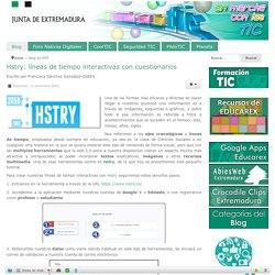 Hstry: líneas de tiempo interactivas con cuestionarios