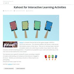 Kahoot for Interactive Learning Activities