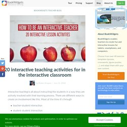 20 interactive teaching activities for in the interactive classroom
