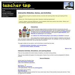 Teacher Tap: Interactive Websites, Games, and Activities