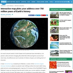 Interactive map plots your address over 750 million years of Earth's history