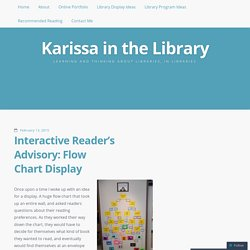Interactive Reader's Advisory: Flow Chart Display | Karissa in the Library