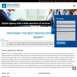Interactive agency in Dubai, UAE - Digillence Rolson