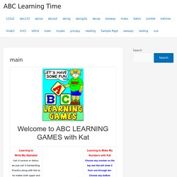 Free interactive educational games, my abc's, alphabet, numbers, tell time