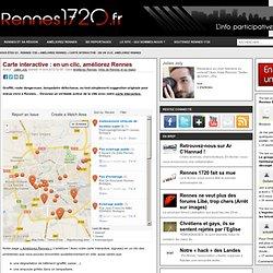 Carte interactive : en un clic, améliorez Rennes