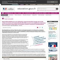 Ouverture d'une plateforme interactive pour la Semaine d'éducation et d'actions contre le racisme et l'antisémitisme