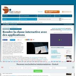 Rendre la classe interactive avec des applications