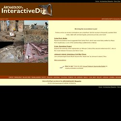 Interactive Dig - Archaeology Magazine's Online Excavations