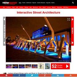 Interactive Street Architecture : montreal street art