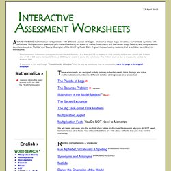 Interactive Assessment Worksheets