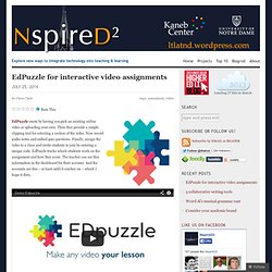 EdPuzzle for interactive video assignments