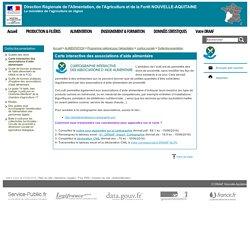 DRAAF NOUVELLE AQUITAINE 15/06/16 Carte interactive des associations d'aide alimentaire