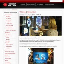 Vitrine interactive