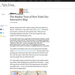 Interactive Map: Banksy Tour of NYC