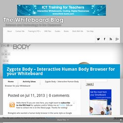 Zygote Body - Interactive Human Body Browser for your Whiteboard