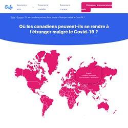 Une carte interactive qui montre où les Canadiens peuvent voyager