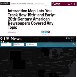 US News map interactive lets you map how historical newspapers digitized by Chronicling America changed over time.