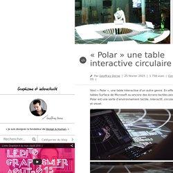 """Design & graphisme par Geoffrey Dorne""""Polar"""" une table interactive circulaire ! - Design & graphisme par Geoffrey Dorne"""