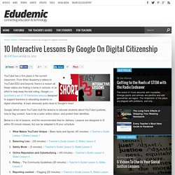 10 Interactive Lessons By Google On Digital Citizenship