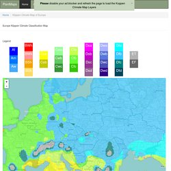 Interactive Europe Koppen-Geiger Climate Classification Map