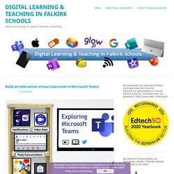 Build an interactive virtual classroom in Microsoft Teams