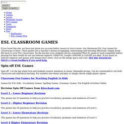 ESL Interactive Fun Games for Classroom Practice