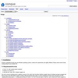 Usage - conque - Run interactive commands inside a Vim buffer