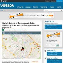 [Carte interactive] Commerces à Saint-Etienne : quelles rues perdent, quelles rues gagnent ?