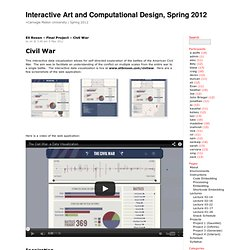 Interactive Art and Computational Design, Spring 2012 » Eli Rosen – Final Project – Civil War
