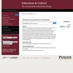 """Interactive Constructivism in Education"" by Kersten Reich"