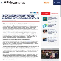 How Interactive Content for B2B Marketing Will Leap Forward with 5G