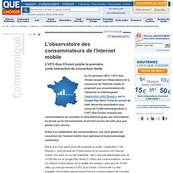 Découvrez la carte interactive de la couverture du réseau mobile