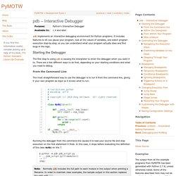 pdb – Interactive Debugger