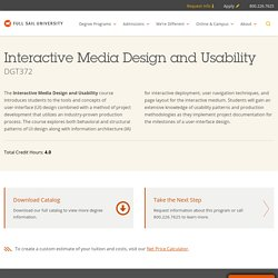 Interactive Media Design and Usability