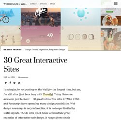 30 Great Interactive Sites - Web Designer Wall - Design Trends and Tutorials