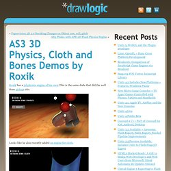 AS3 3D Physics, Cloth and Bones Demos by Roxik - web, game and interactive development with flash, flex, silverlight, unity 3d, torque 3d, canvas - actionscript, c#, javascript, mono, python » AS3 3D Physics, Cloth and Bones Demos by Roxik »