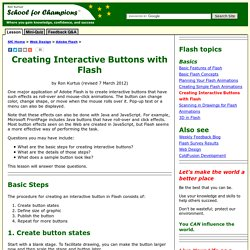 Creating Interactive Buttons with Flash - Succeed in Flash Development