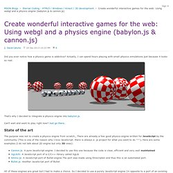 how to make interactive html5 games